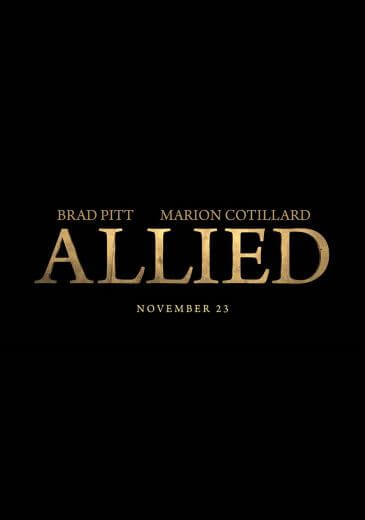 Film wojenny Allied Brad Pitt 2016