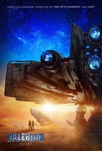 Film sci-fi 3D VValerian i miasto tysiąca planet 2017